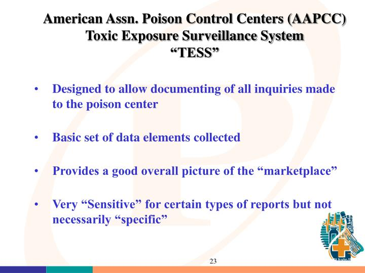 American Assn. Poison Control Centers (AAPCC)