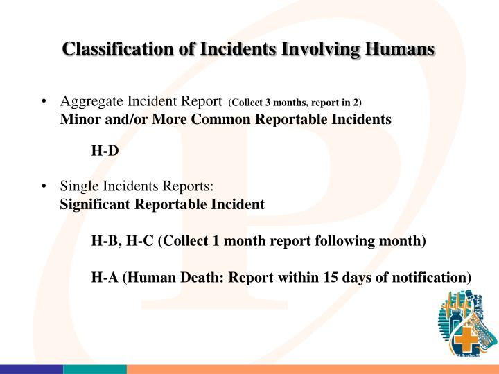 Classification of Incidents Involving Humans