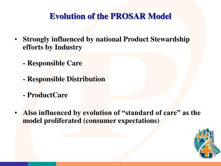 Evolution of the PROSAR Model