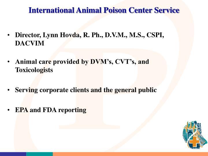 International Animal Poison Center Service
