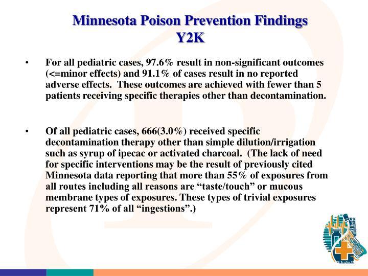 Minnesota Poison Prevention Findings