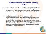 minnesota poison prevention findings y2k