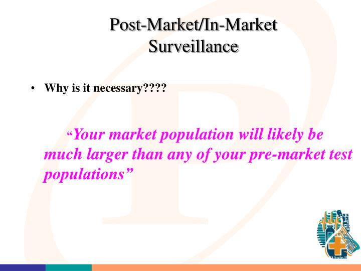 Post-Market/In-Market Surveillance