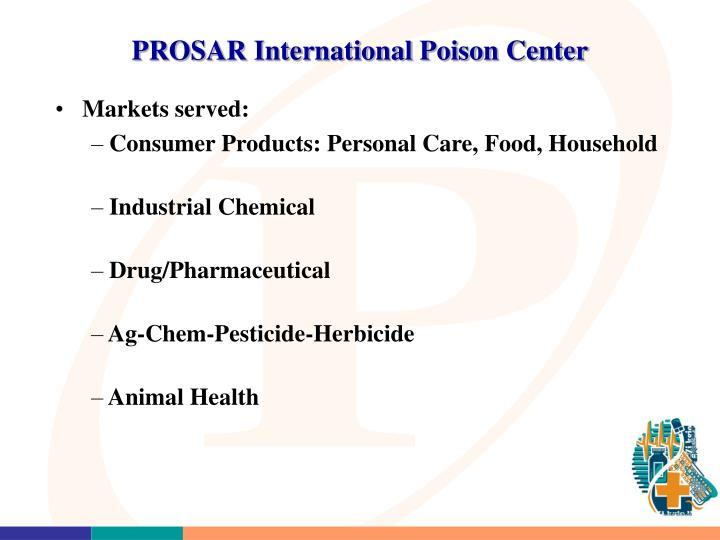 PROSAR International Poison Center