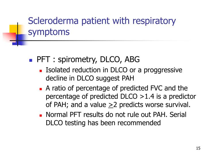 Scleroderma patient with respiratory symptoms