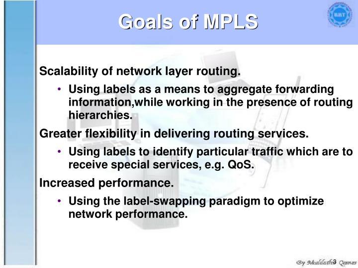 Goals of MPLS