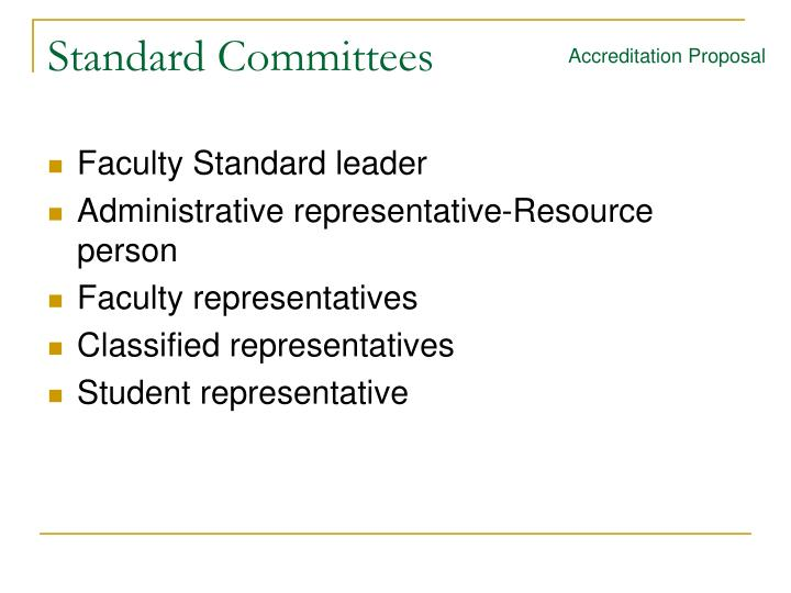 Standard Committees