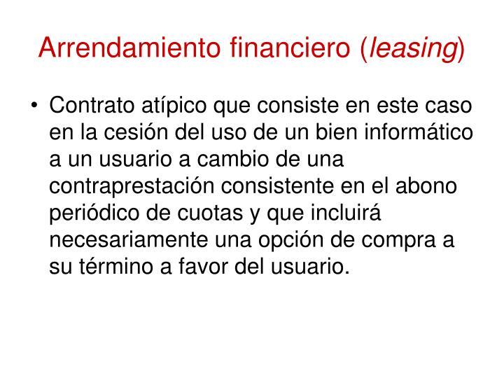 Arrendamiento financiero (