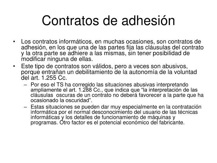 Contratos de adhesión