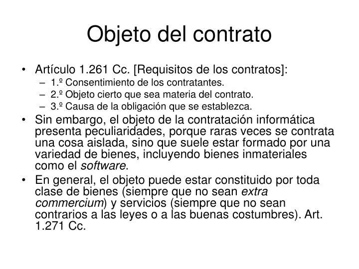Objeto del contrato