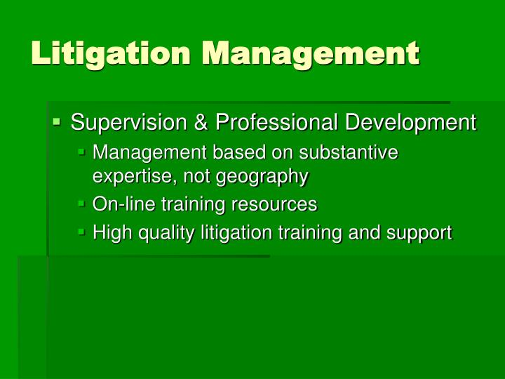 Litigation Management