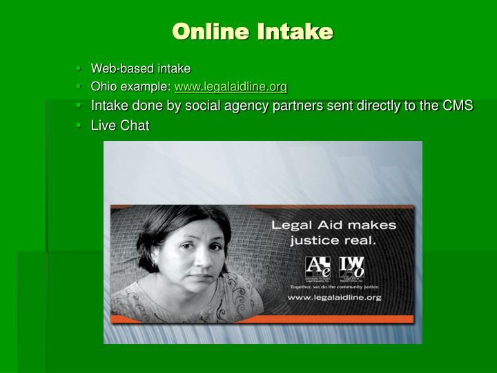 Online Intake