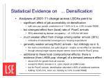 statistical evidence on densification