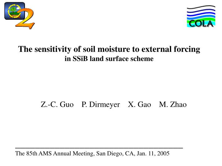 The sensitivity of soil moisture to external forcing