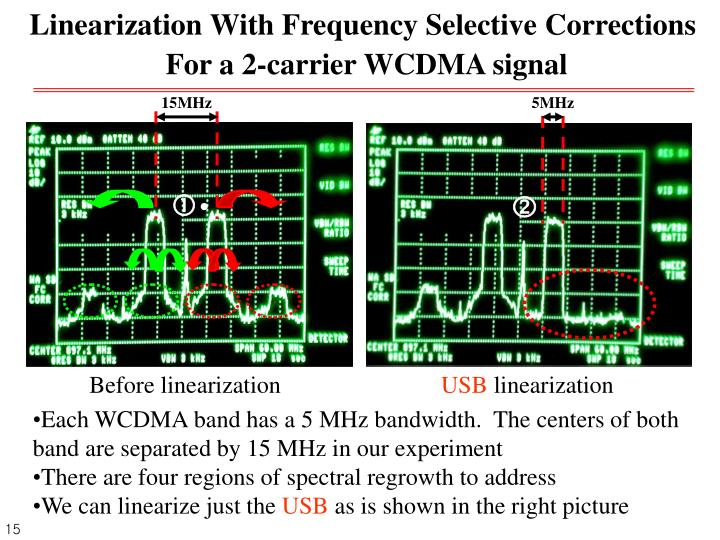 Linearization With Frequency Selective Corrections