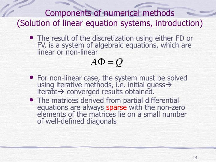 Components of numerical methods