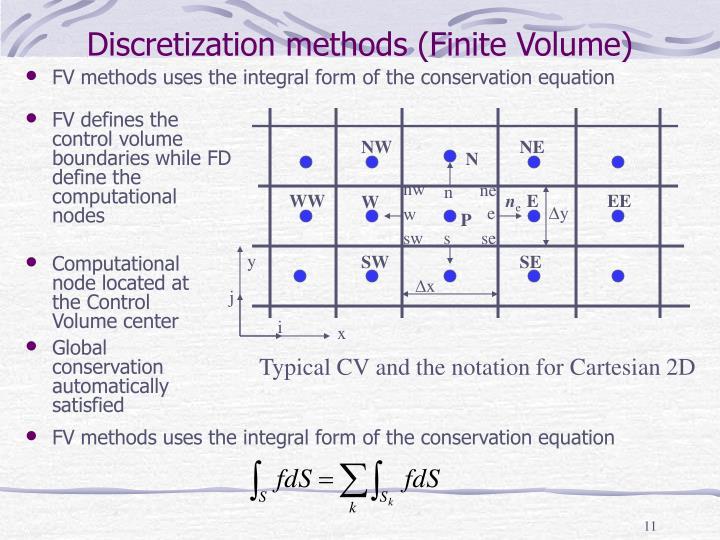 Discretization methods (Finite Volume)