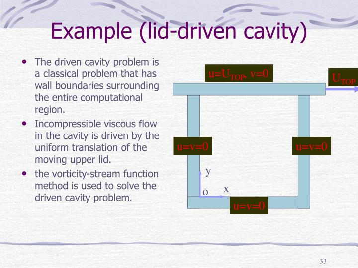 Example (lid-driven cavity)