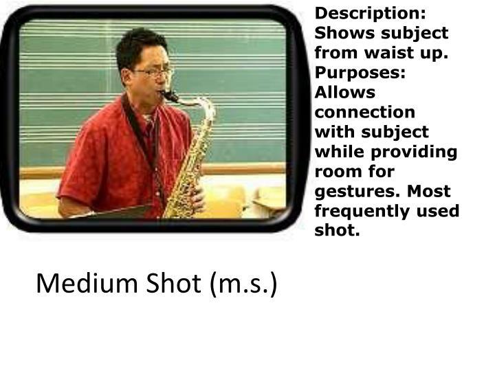 Medium Shot (m.s.)