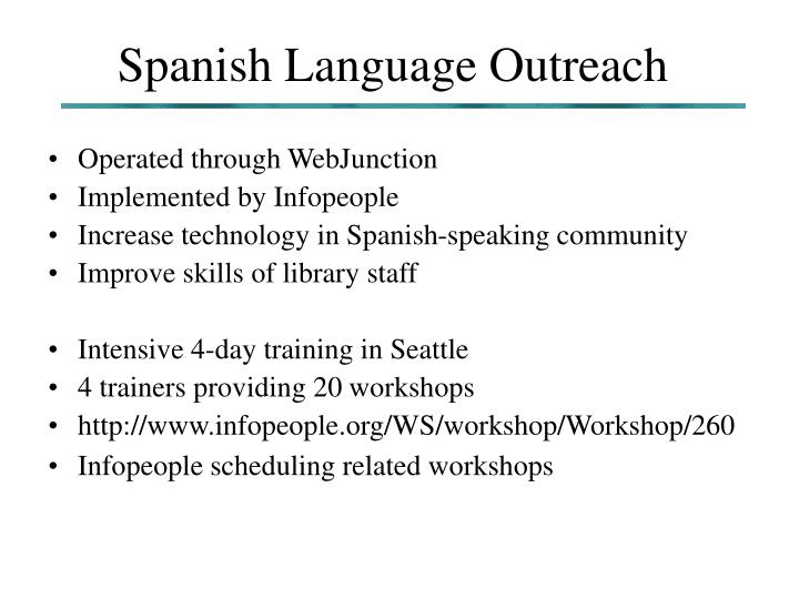 Spanish Language Outreach