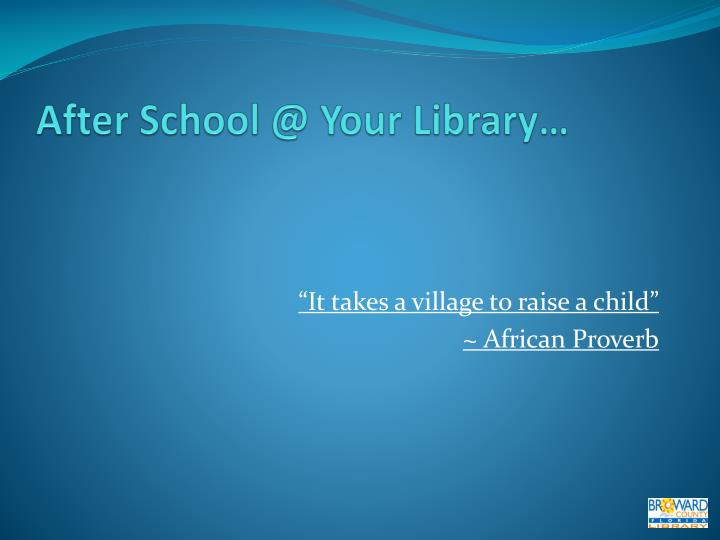 After School @ Your Library…