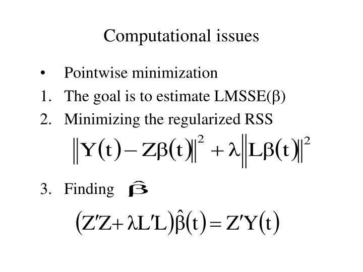 Computational issues