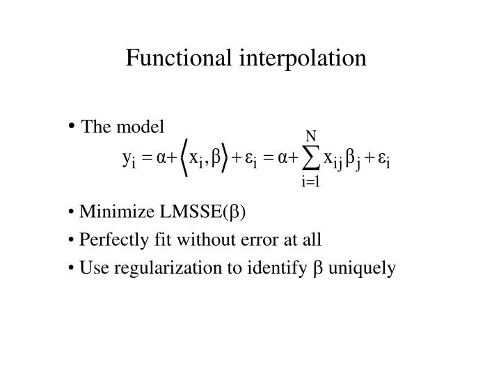 Functional interpolation