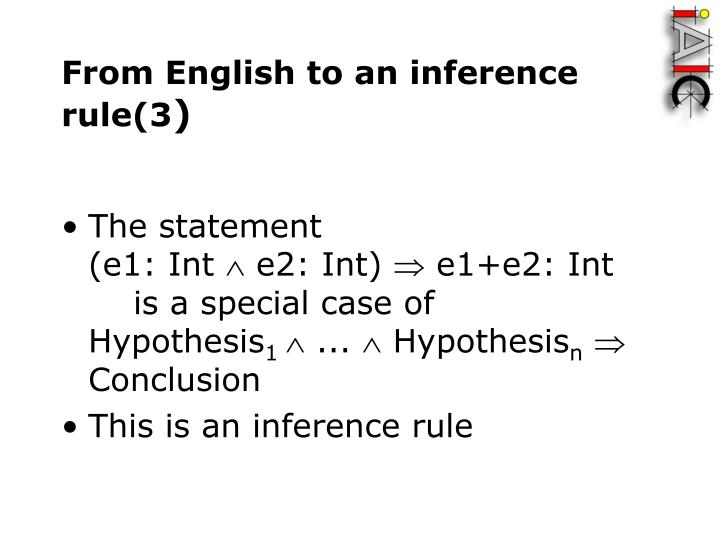From English to an inference rule(3
