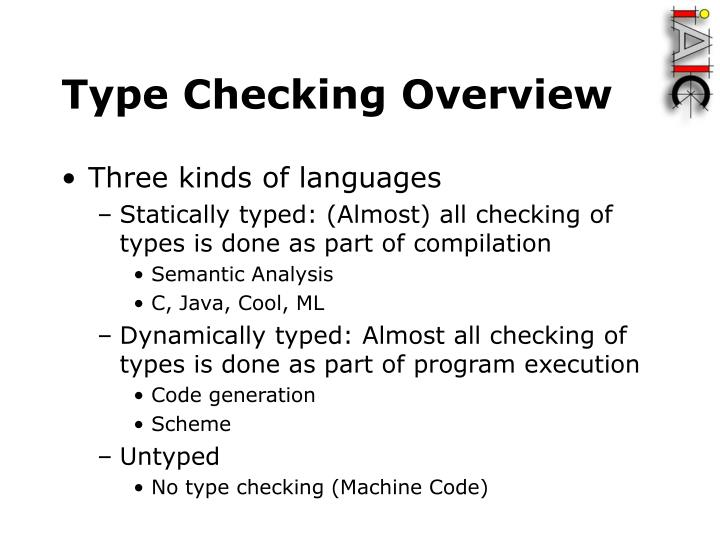 Type Checking Overview