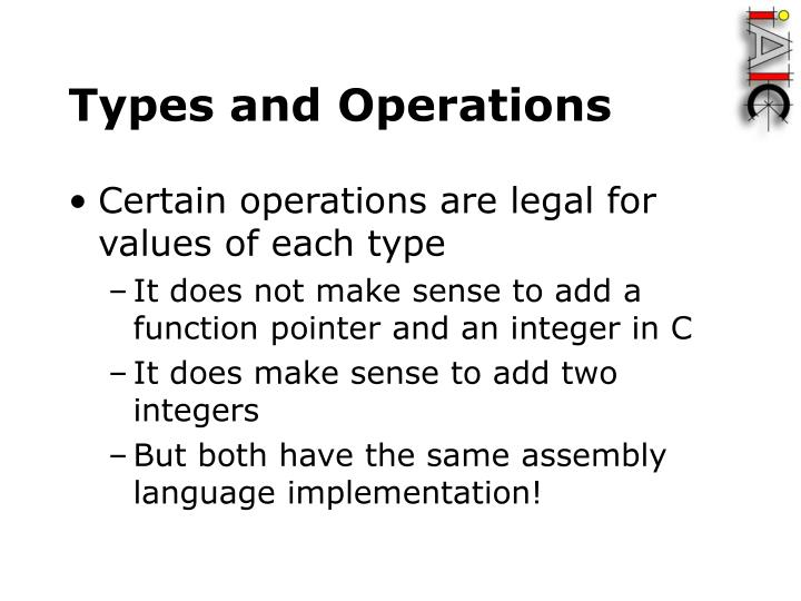 Types and Operations