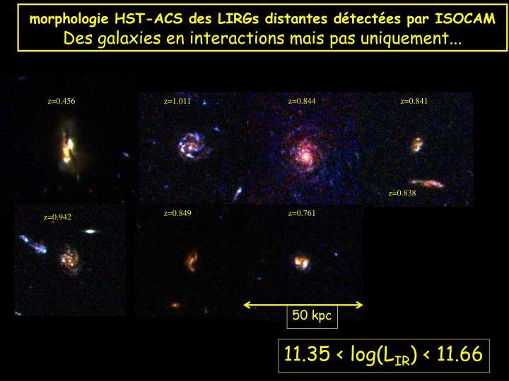 morphologie HST-ACS des LIRGs distantes détectées par ISOCAM