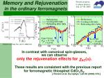 memory and rejuvenation in the ordinary ferromagnets