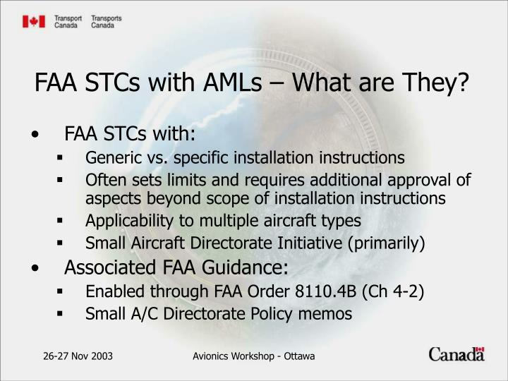 Faa stcs with amls what are they