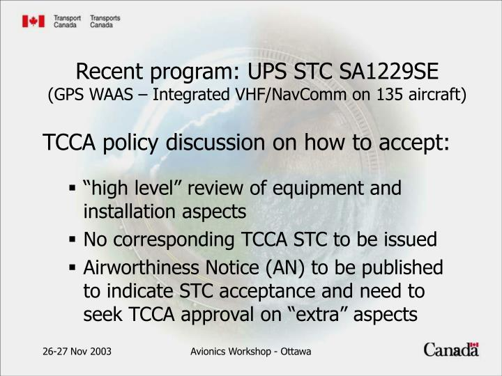TCCA policy discussion on how to accept: