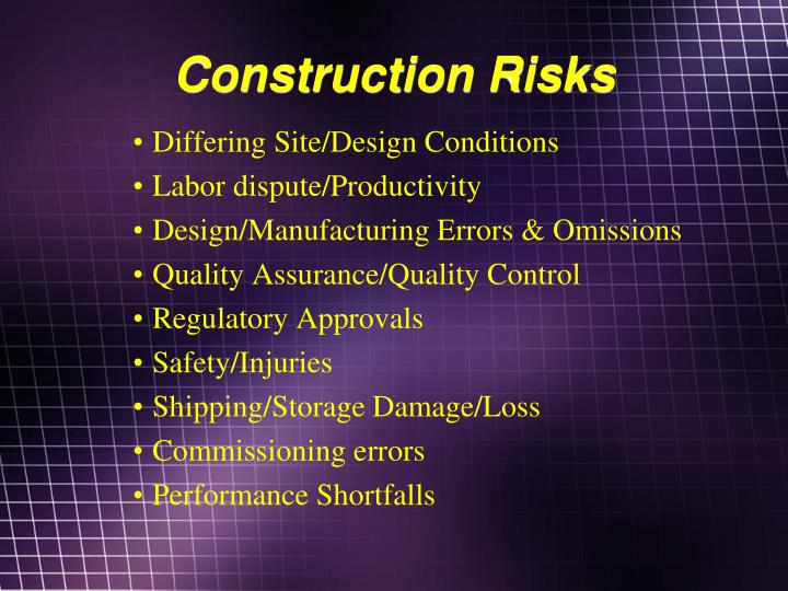 Construction Risks