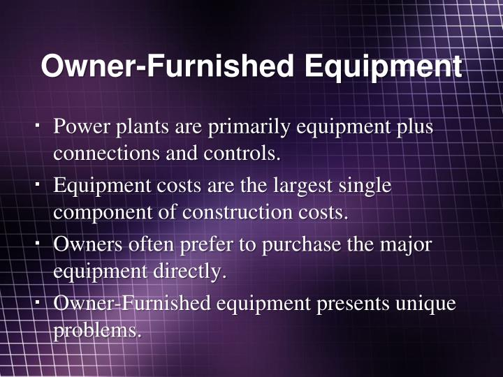 Owner-Furnished Equipment