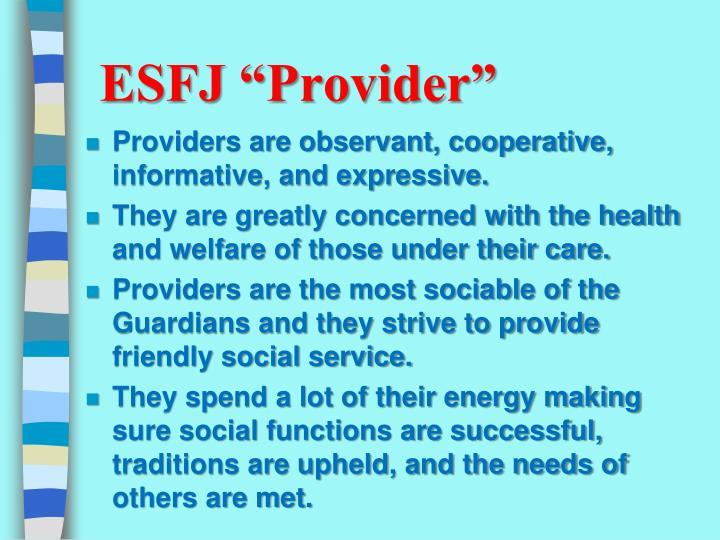 "ESFJ ""Provider"""