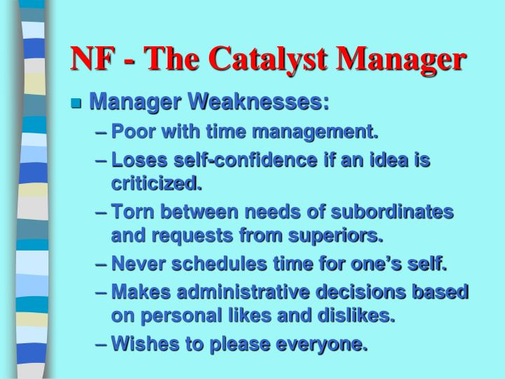 NF - The Catalyst Manager