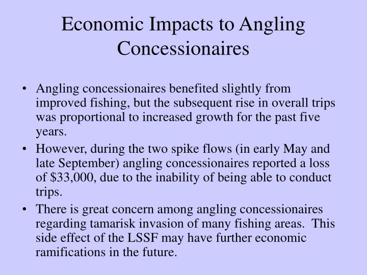 Economic Impacts to Angling Concessionaires