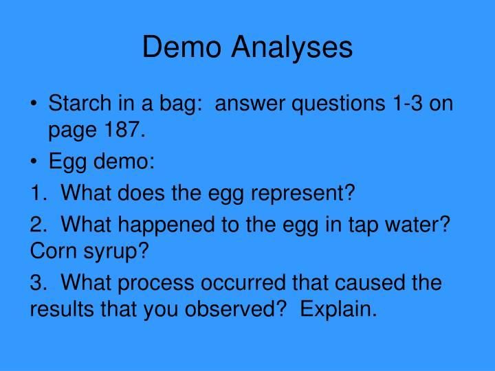 Demo Analyses
