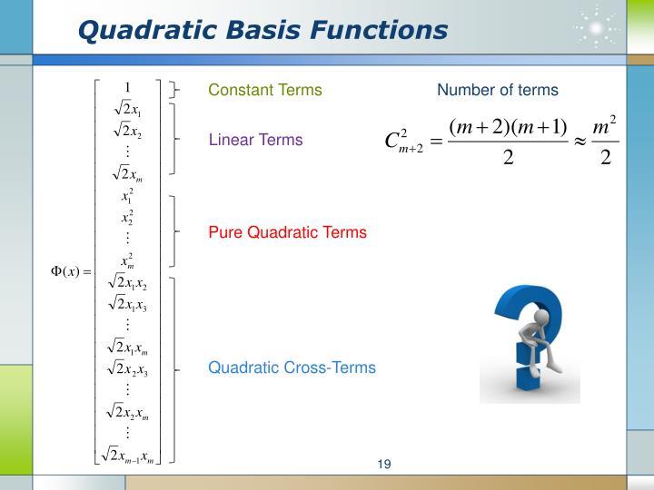 Quadratic Basis Functions