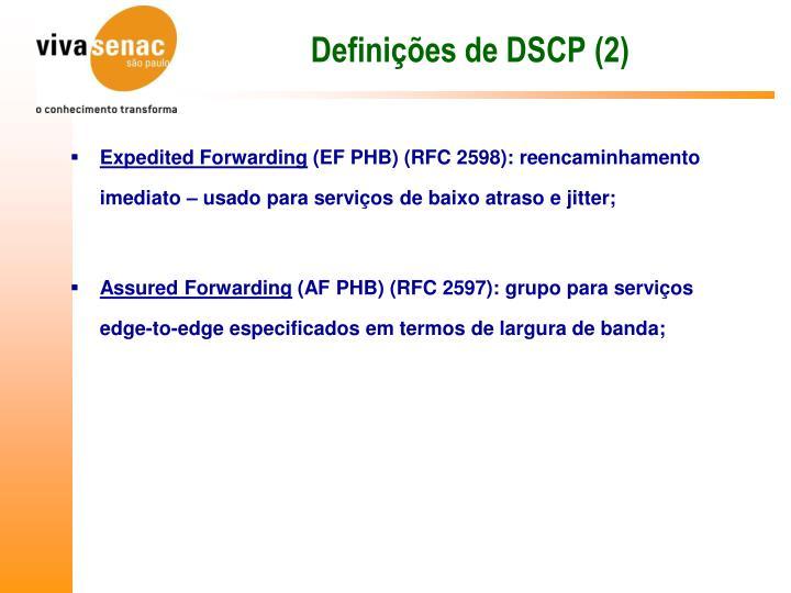 Definições de DSCP (2)