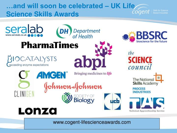 …and will soon be celebrated – UK Life Science Skills Awards