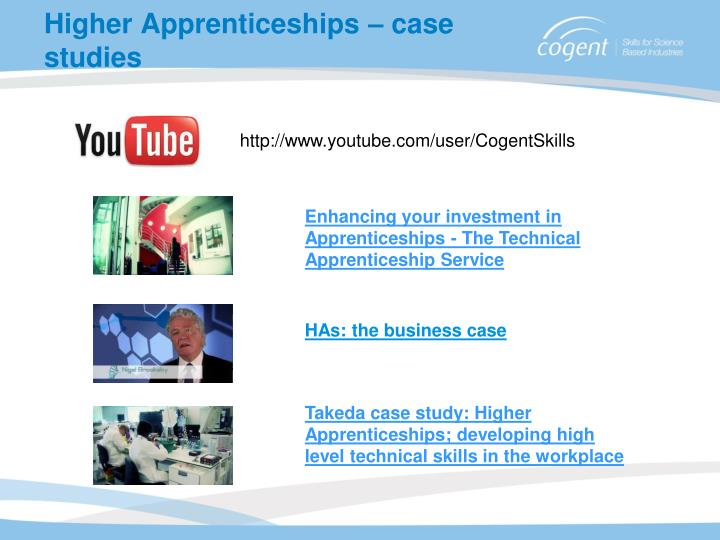 Higher Apprenticeships – case studies