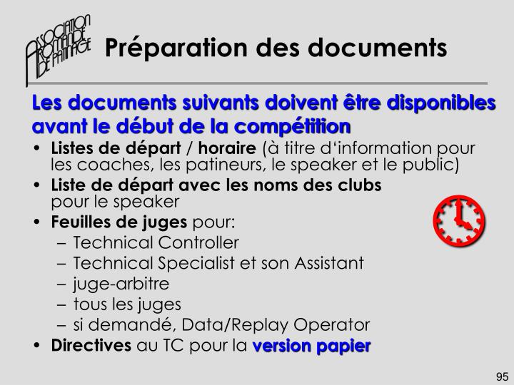 Préparation des documents