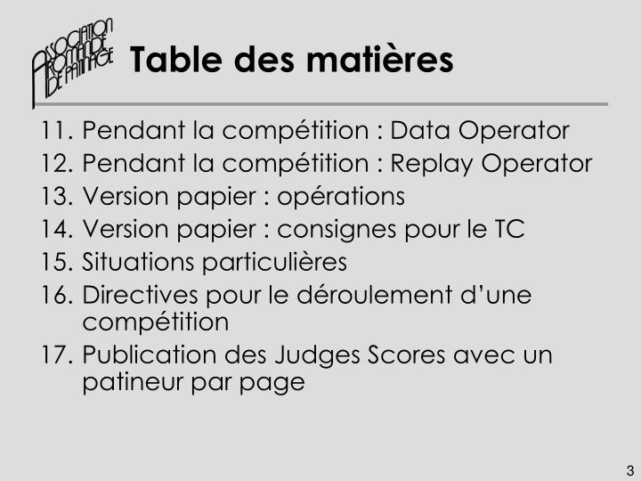 Table des mati res1
