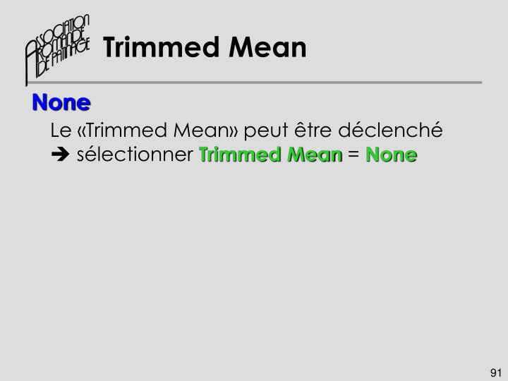 Trimmed Mean