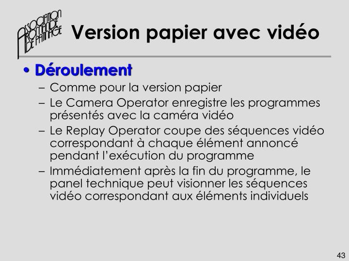 Version papier avec vidéo