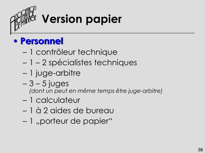 Version papier