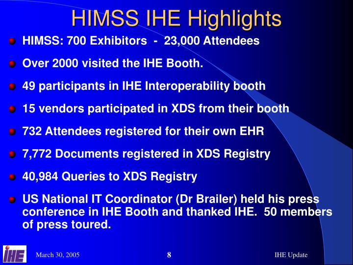 HIMSS IHE Highlights